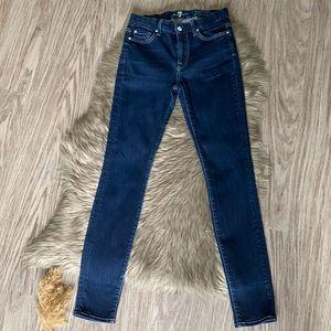 7FAM High Waist Gwenevere Skinny Jeans